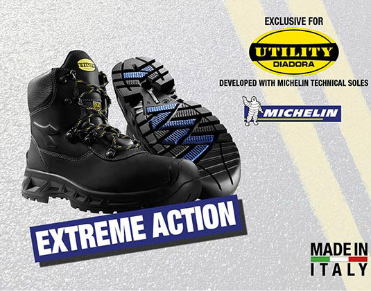 Scarpe antinfortunistiche Diadora con suola in gomma Michelin