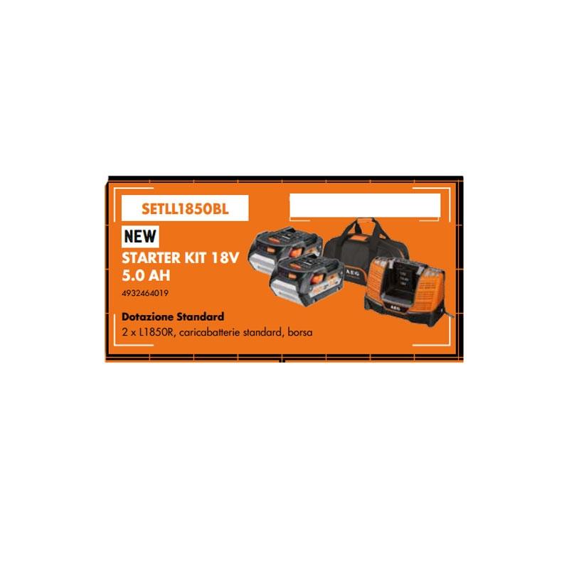 AEG 18V Li-Ionen-Akku - 2 Batterie 5.0Ah - SETLL1850BL Multi-Plattform-Schnellladegerät
